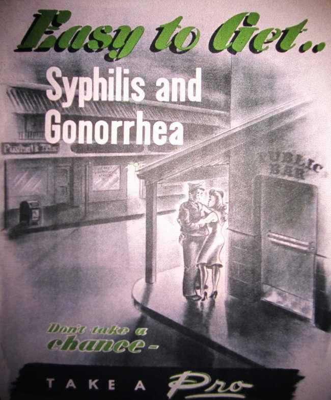 Так легко обрести ... сифилис и гонорею. Не надо испытывать судьбу - займись их профилактикой