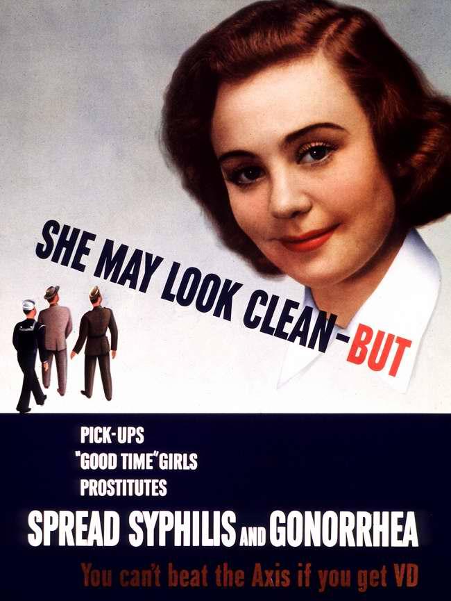 Она кажется чистой, но... на на самом деле является девушкой для развлечений и проституткой, которая разносит сифилис и гонорею