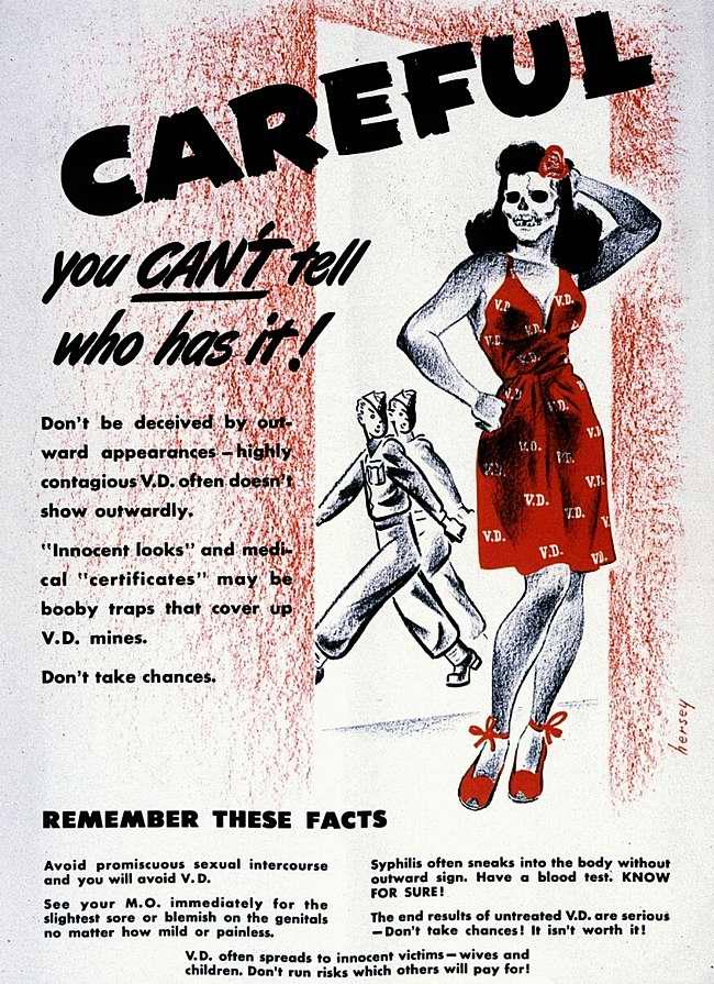 Осторожно, ты не знаешь, кто может оказаться разносчиком венерических заболеваний. Запомни этот факт