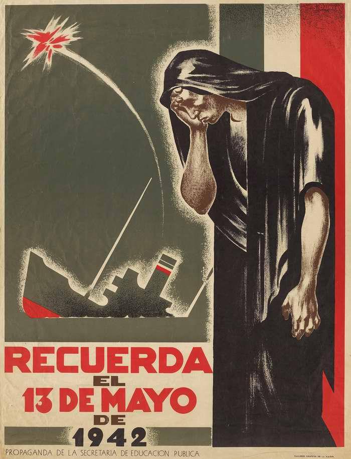 Помните 13 мая 1942 - день гибели мексиканского нефтяного танкера, который был потоплен немецкой подводной лодкой вместе с 14 членами его экипажа