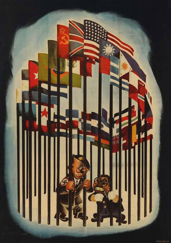 Гитлер и Хирохито, загнанные в клетку