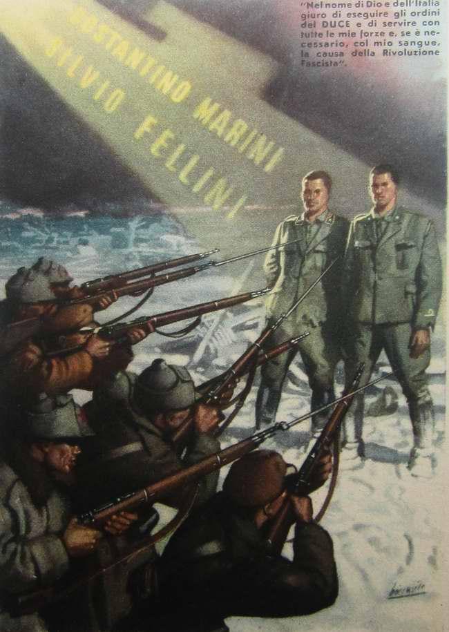 Во имя Бога и Италии клянусь выполнять приказы дуче и использовать все мои силы и, если необходимо, пролить свою кровь в целях достижения победы фашистской революции