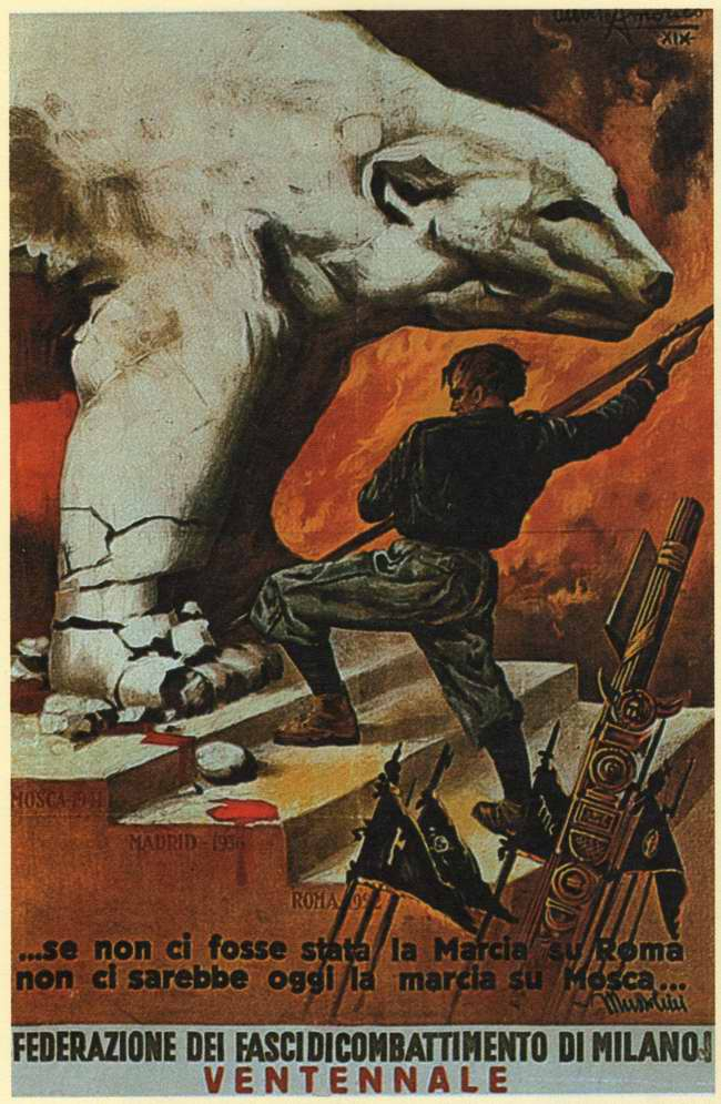 Если бы не марш чернорубашечников на Рим (в октябре 1922 года), не было бы сегодня похода на Москву - Бенито Муссолини