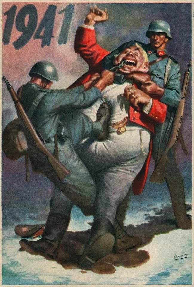 1941 год - Вырвем зубы алчному британскому живоглоту