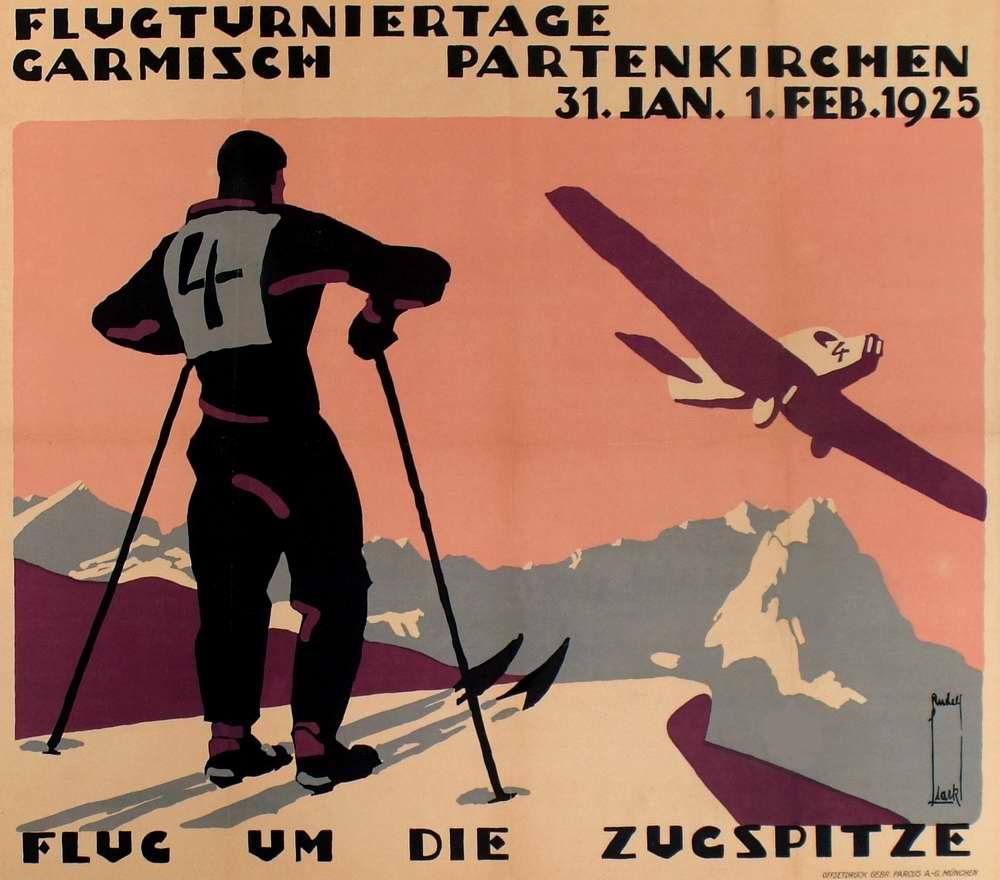 Летный турнир в Гармиш-Партенкирхен (Бавария)- полеты вокруг горных вершин