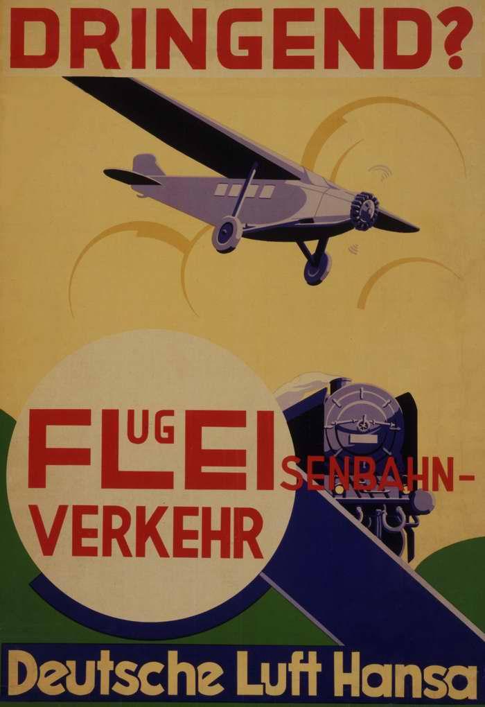 Авиакомпания Lufthansa. Спешите? Быстро доставим по любому направлению (1931 год)