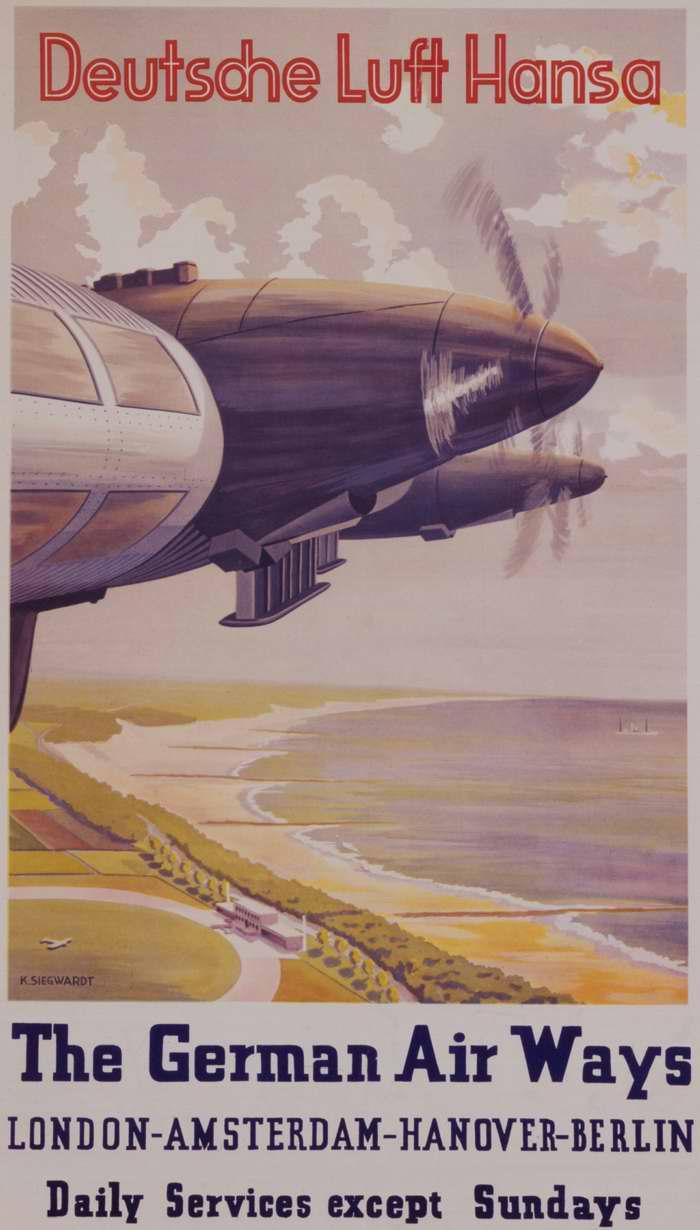 Немецкая Lufthansa - ежедневные полеты по маршруту Лондон - Амстердам - Ганновер - Берлин