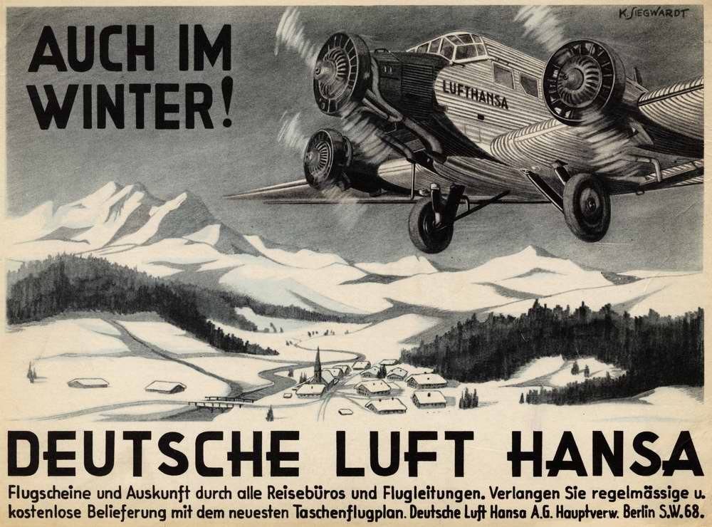 Авиакомпания Lufthansa - мы летаем даже зимой
