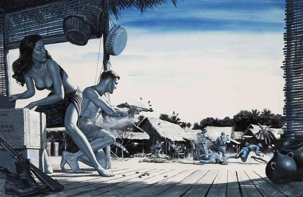Рисунок художника Морта Кюнстлера (Mort Kunstler) (14)