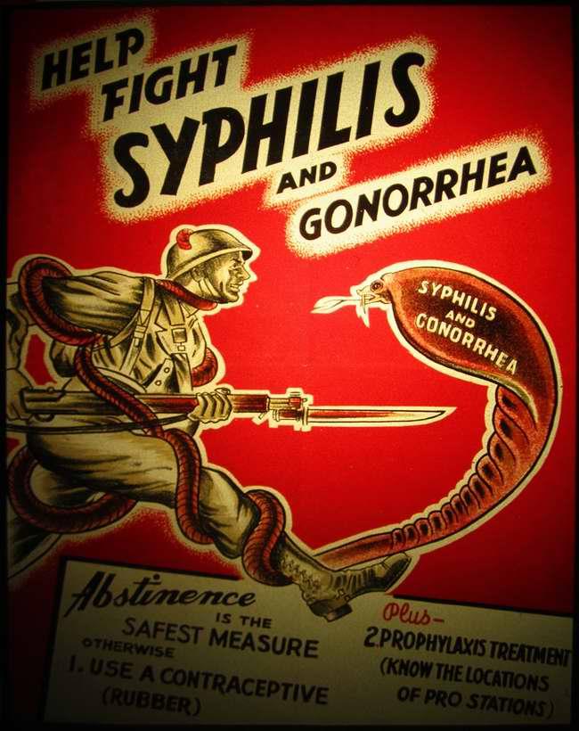 Помоги побороть сифилис и гонорею