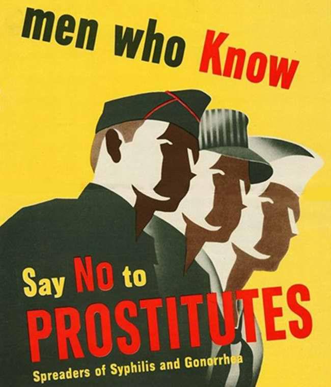 Мужчины, которые знают, говорят Нет проституткам, являющимся распространительницами сифилиса и гонореи