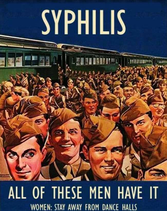Сифилис. У всех этих мужчин он имеется в наличии. Женщины, держитесь подальше от танцевальных залов