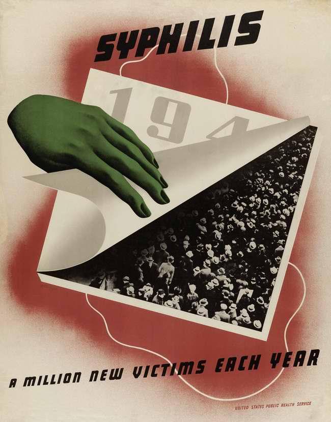Сифилис - 1940-е. Миллион новых жертв каждый год