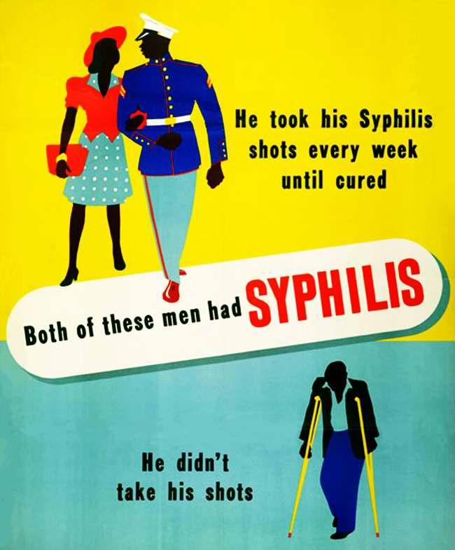 Оба из них болели сифилисом. Но первый из них боролся с болезнью в течении нескольких недель, пока не вылечился, а второй ничего не делал для своего излечения (1)