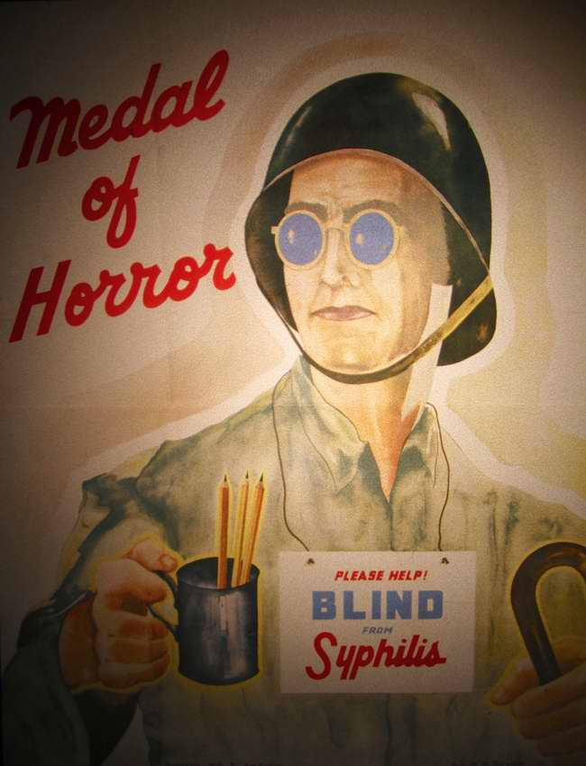 Олицетворение ужаса - помогите ослепшему от сифилиса