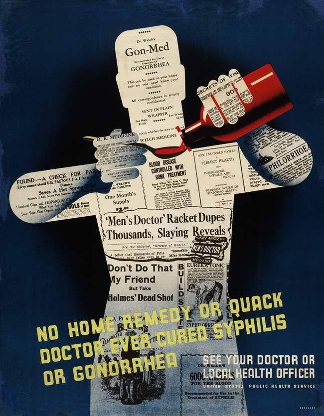 Не пользуйтесь домашними средствами или помощью лекарей-шарлатанов когда надо вылечить сифилис или гонорею
