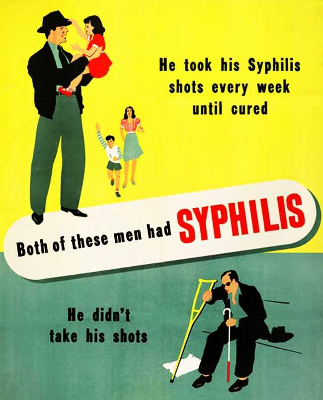 Оба из них болели сифилисом. Но первый из них боролся с болезнью в течении нескольких недель, пока не вылечился, а второй ничего не делал для своего излечения (2)