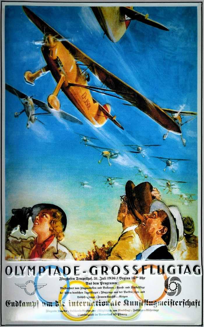 Большой авиационный праздник в честь Берлинской Олимпиады