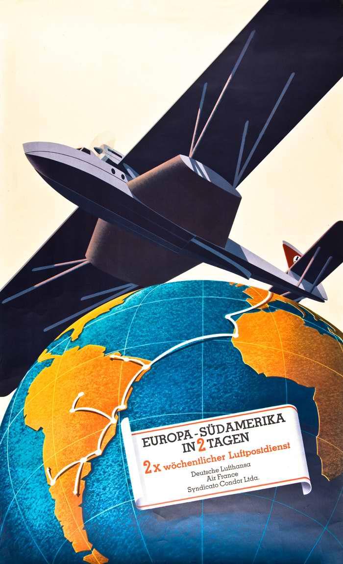 Из Европы в Южную Америку - доставка почтовых сообщений за 2 дня