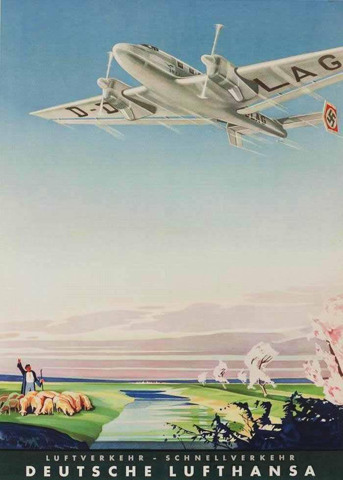 Воздушный транспорт - быстрый транспорт. Немецкая Lufthansa