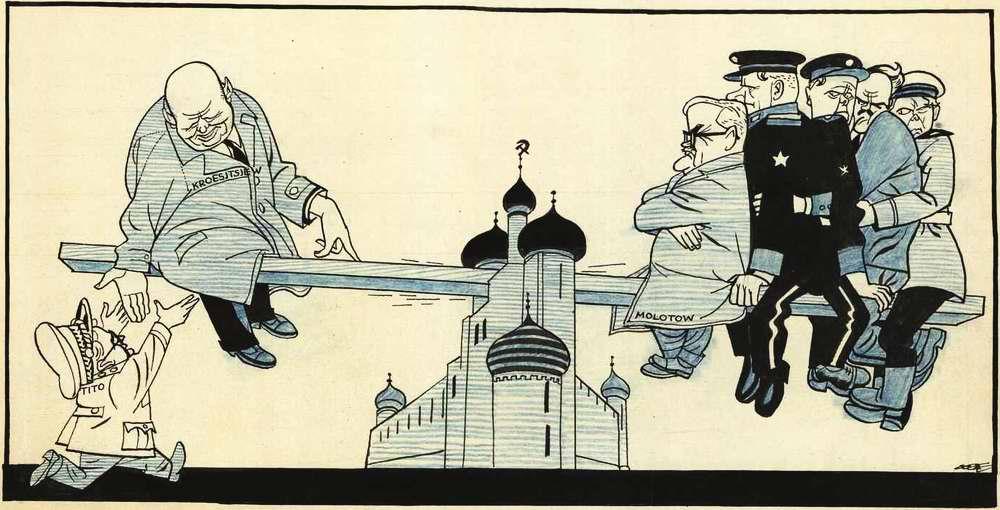 Никита Хрущев и Иосип Броз Тито на кремлевских качелях