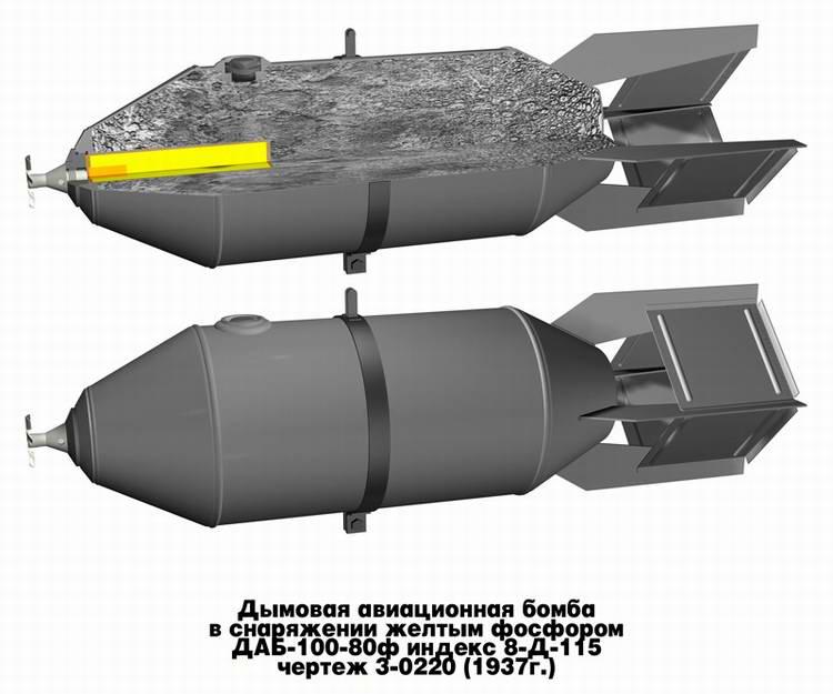 Дымовая авиационная бомба ДАБ-100-80ф