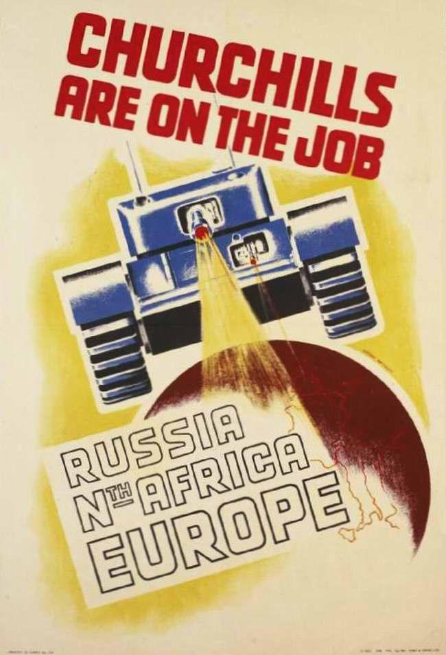 Пехотные танки Черчилль делают свою работу в России, Северной Африке и Европе (Великобритания)