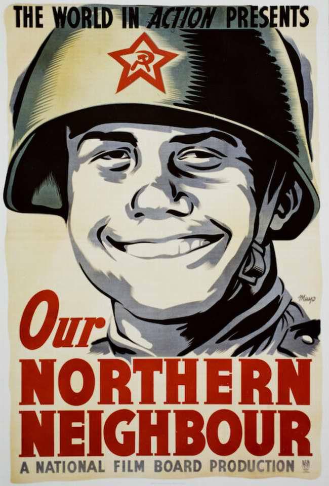 Наши северные соседи - рекламный плакат фильма (Канада)