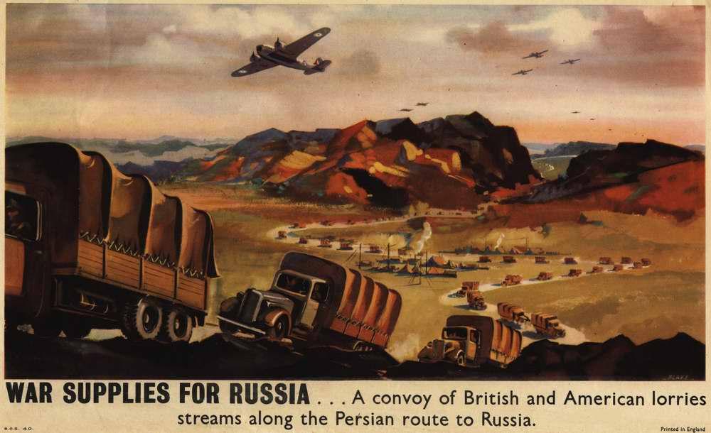 Военные поставки для России - британских и американских грузовые колонны движутся через территорию Ирана в Россию (Великобритания)