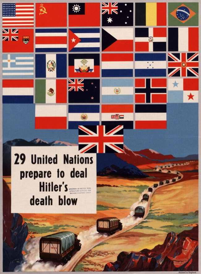 29 объединившихся наций готовятся нанести смертельный удар Гитлеру (Великобритания)