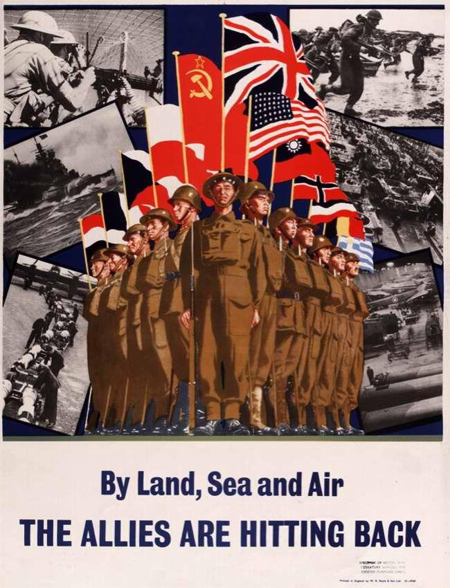 На земле, на море и в воздухе союзники наносят ответные удары (Великобритания)