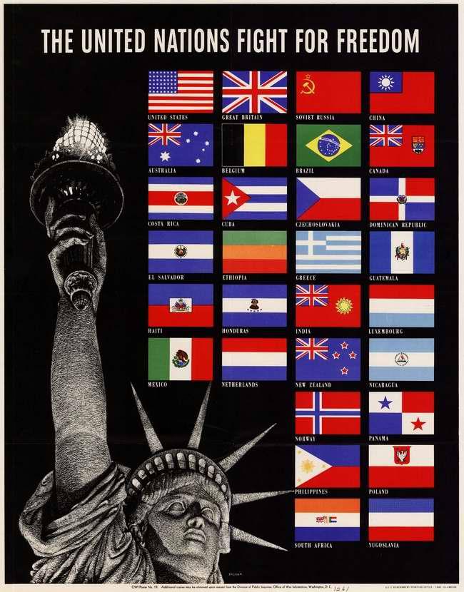 Государства - члены Организации Объединенных Наций борются за свободу (США)