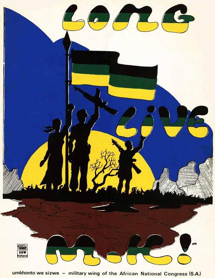Да здравствует Umkhonto we Sizwe (Копье нации) - военизированное крыло Африканского национального конгресса (Нидерланды)