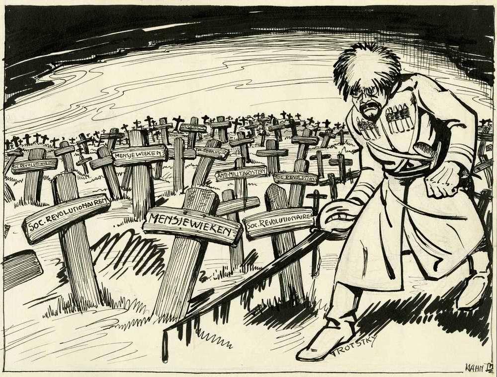 Троцкий: Если рабочие не захотят объединяться с нами, мы объединим их насильно или подвергнем смерти!