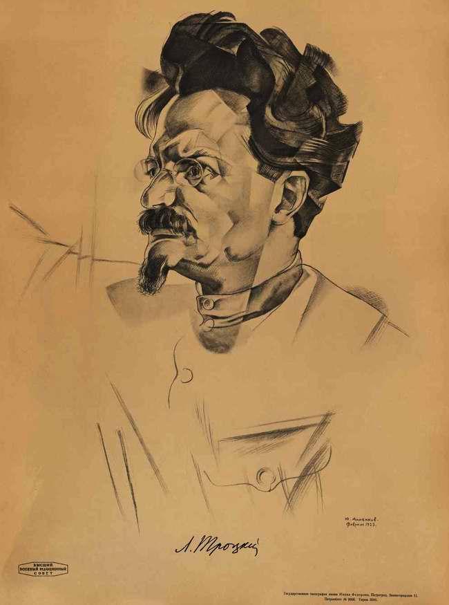 Графический портрет Льва Троцкого художника Ю. Анненкова