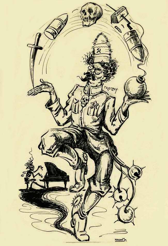 Троцкий - опасный жонглер (Нидерланды, 1923 год)