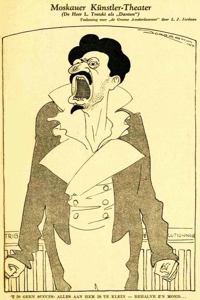 Московский художественные театр - господин Троцкий в роли Дантона (одного из отцов-основателей Первой французской республики, который затем был казнен своими же сторонниками после обвинения в заговоре)