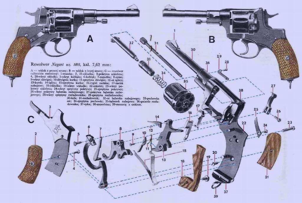 Револьвер Наган (Nagant) образца 1895 года (Бельгия)