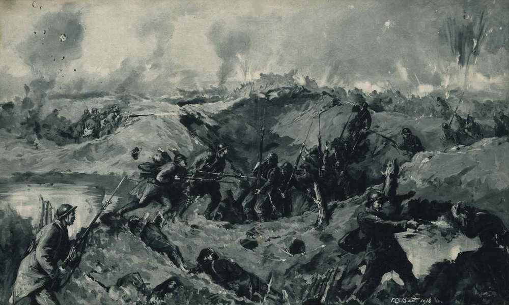 В рукопашном бою (1918 год)