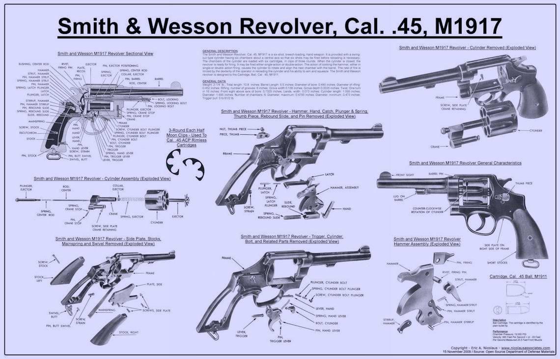 Револьвер Смит и Вессон (Smith & Wesson) образца 1917 года (США)