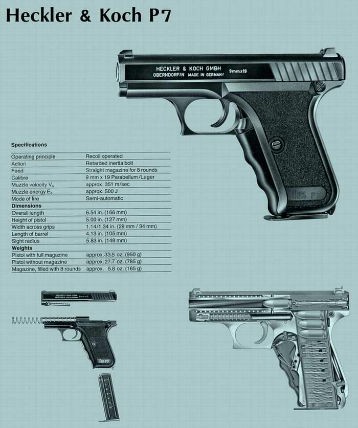Пистолет Р7 Heckler & Koch (Германия) образца 1976 года (для полиции)