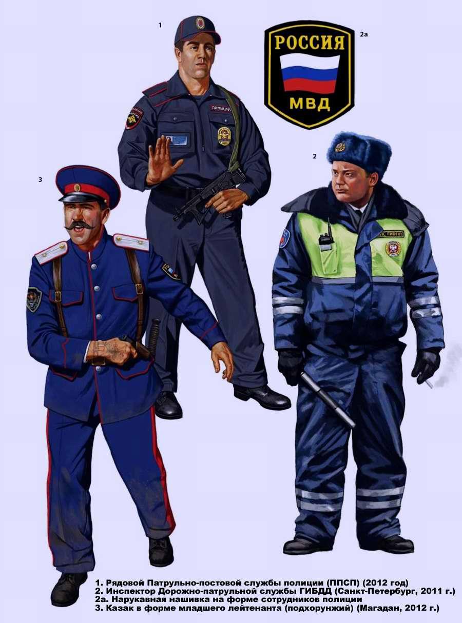 Патрульно-постовая служба полиции ( ППС ), Дорожно-патрульная служба ГИБДД и добровольные военизированные формирования