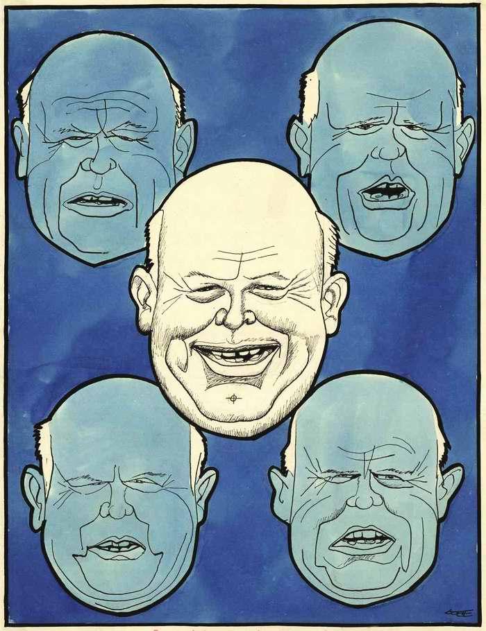 Лики Хрущева во время пребывания в Америке