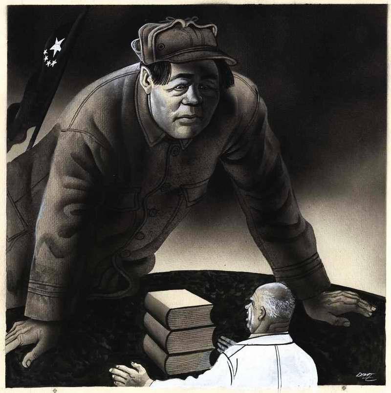 Никита Хрущев и быстро растущий великан Мао (1960 год)