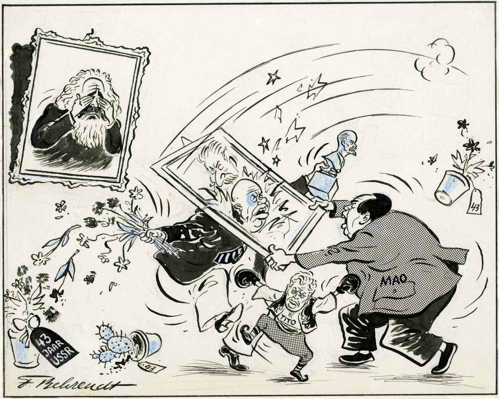 Хрущев и Мао - Вот так поздравление с 43 годовщиной октябрьской революции