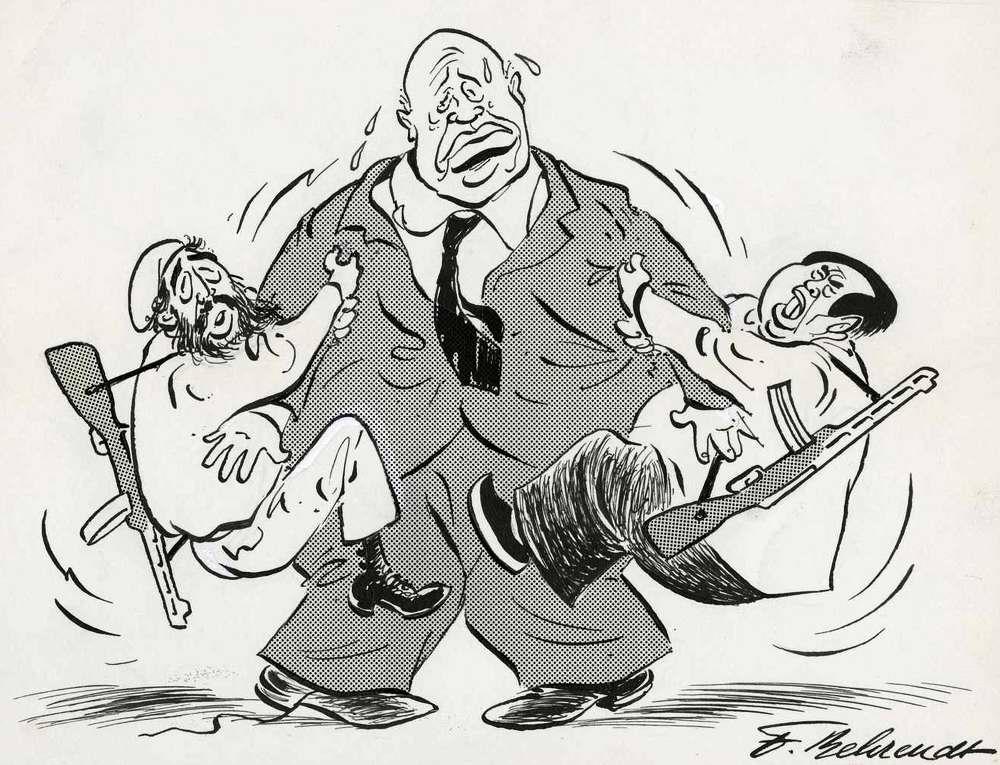Хрущев со скованными руками (1962 год)