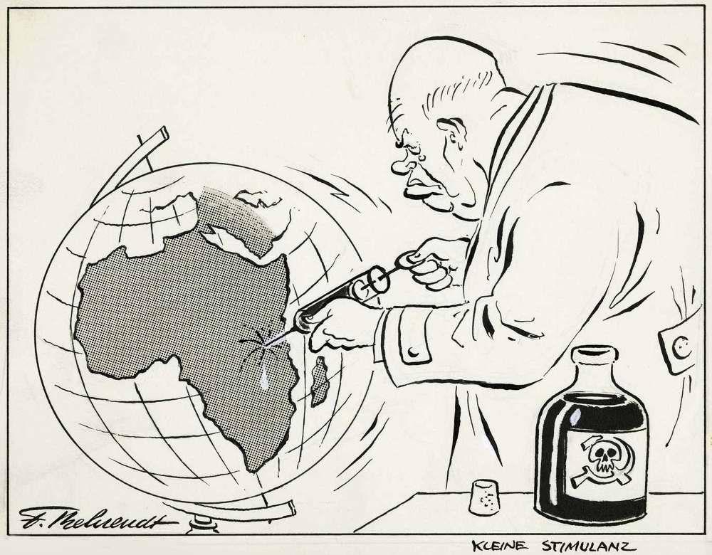 Маленькая стимуляция Африканского континента инъекцией коммунистической отравыа (1963 год)