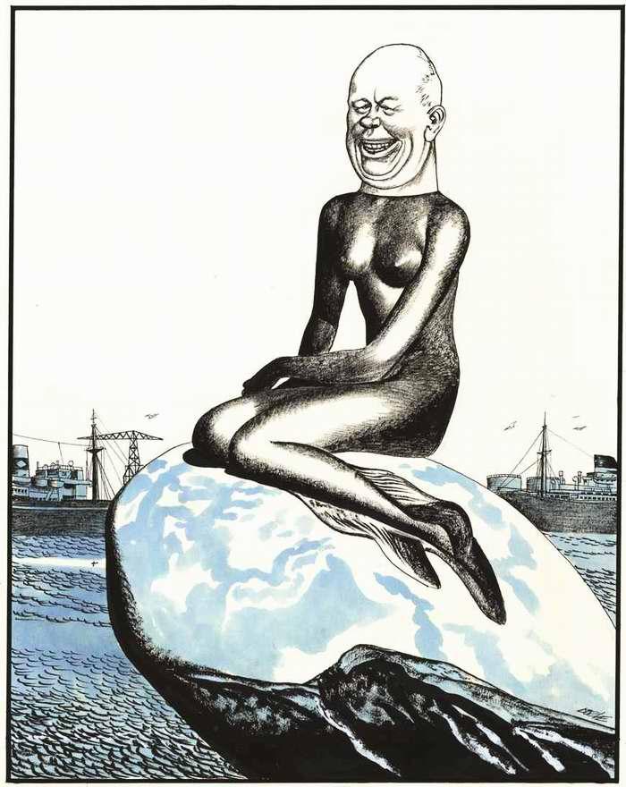 Хрущев пытается принять облик мирной Русалочки (1964 год)