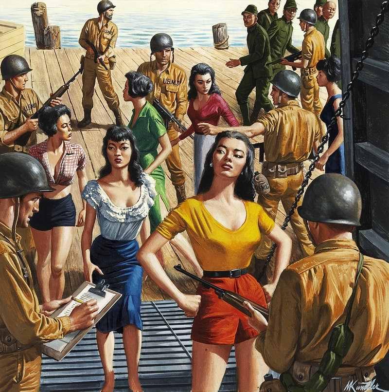 Рисунок художника Морта Кюнстлера (Mort Kunstler) (4)
