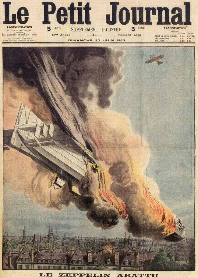 Подбитый цеппелин (1915 год)